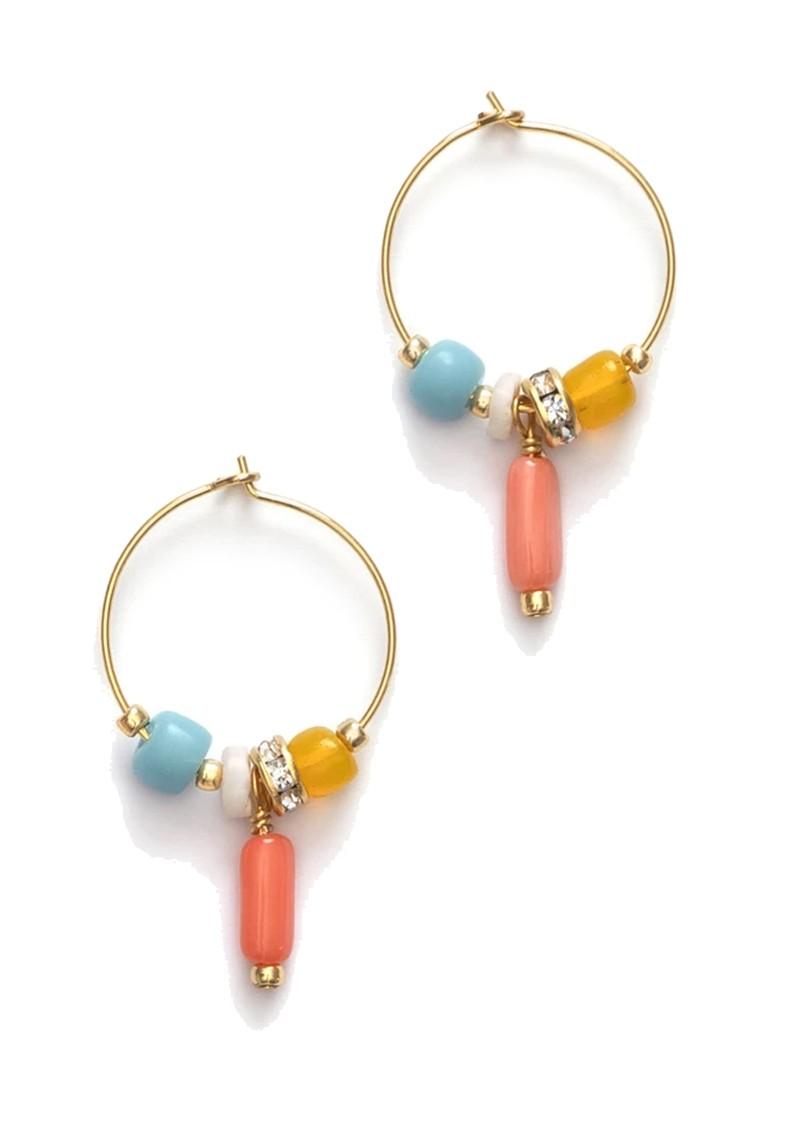 ANNI LU Sun Dance Hoop Earrings - Papaya Punch main image