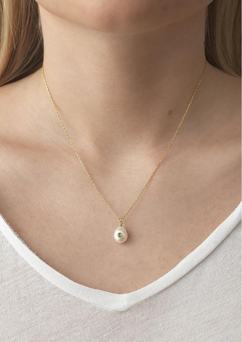 ANNI LU Baroque Pearl Citrine Necklace - Gold main image