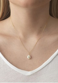ANNI LU Baroque Pearl Turquoise Necklace - Gold