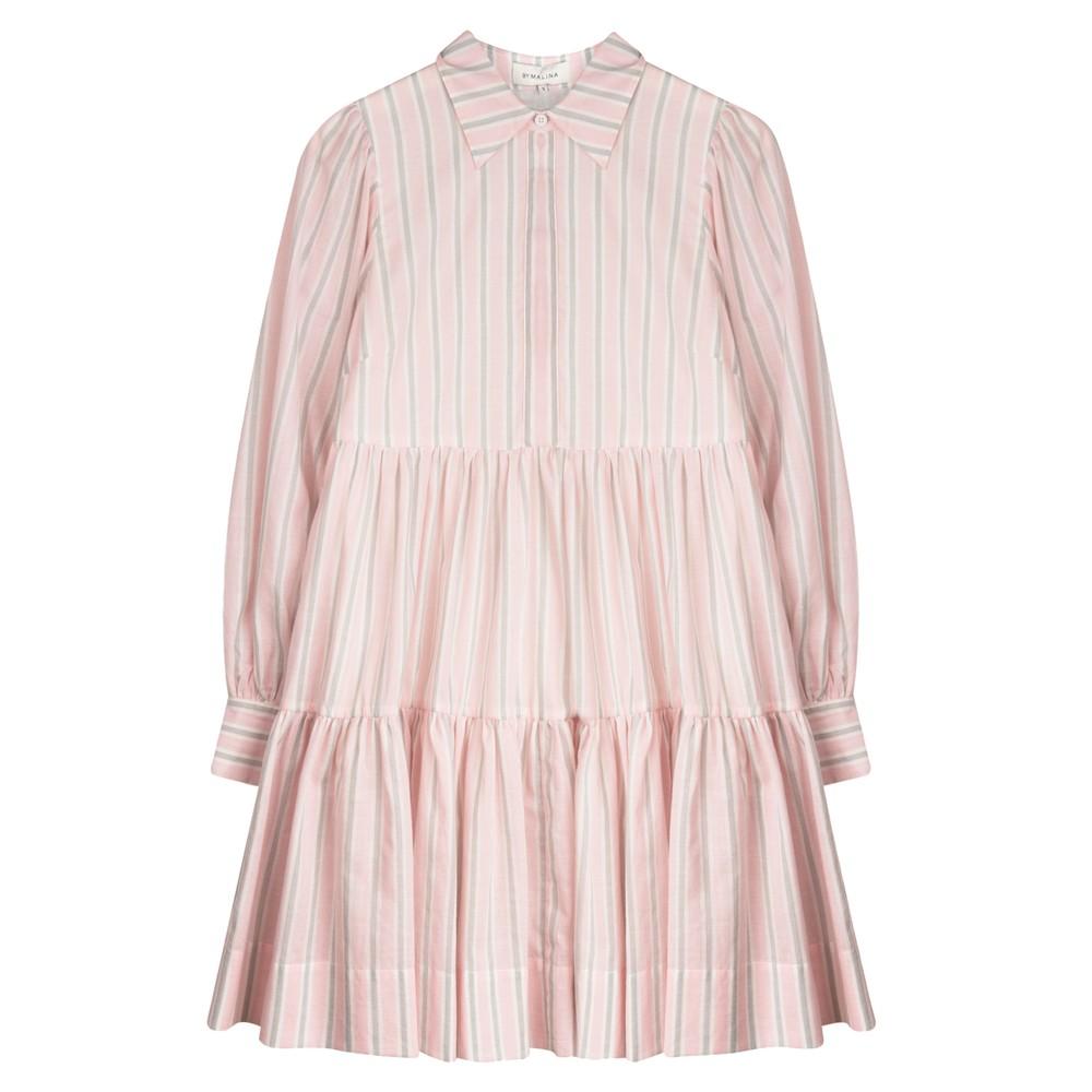 Allie Shirt Dress - Pink Stripe