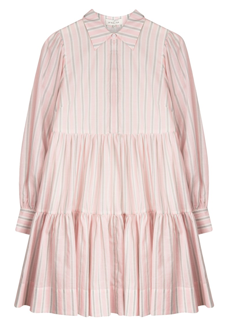 BY MALINA Allie Shirt Dress - Pink Stripe main image