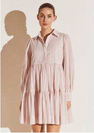 BY MALINA Allie Shirt Dress - Pink Stripe