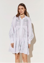 BY MALINA Alexi Shirt Dress - White
