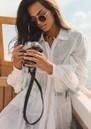 Alexi Shirt Dress - White additional image