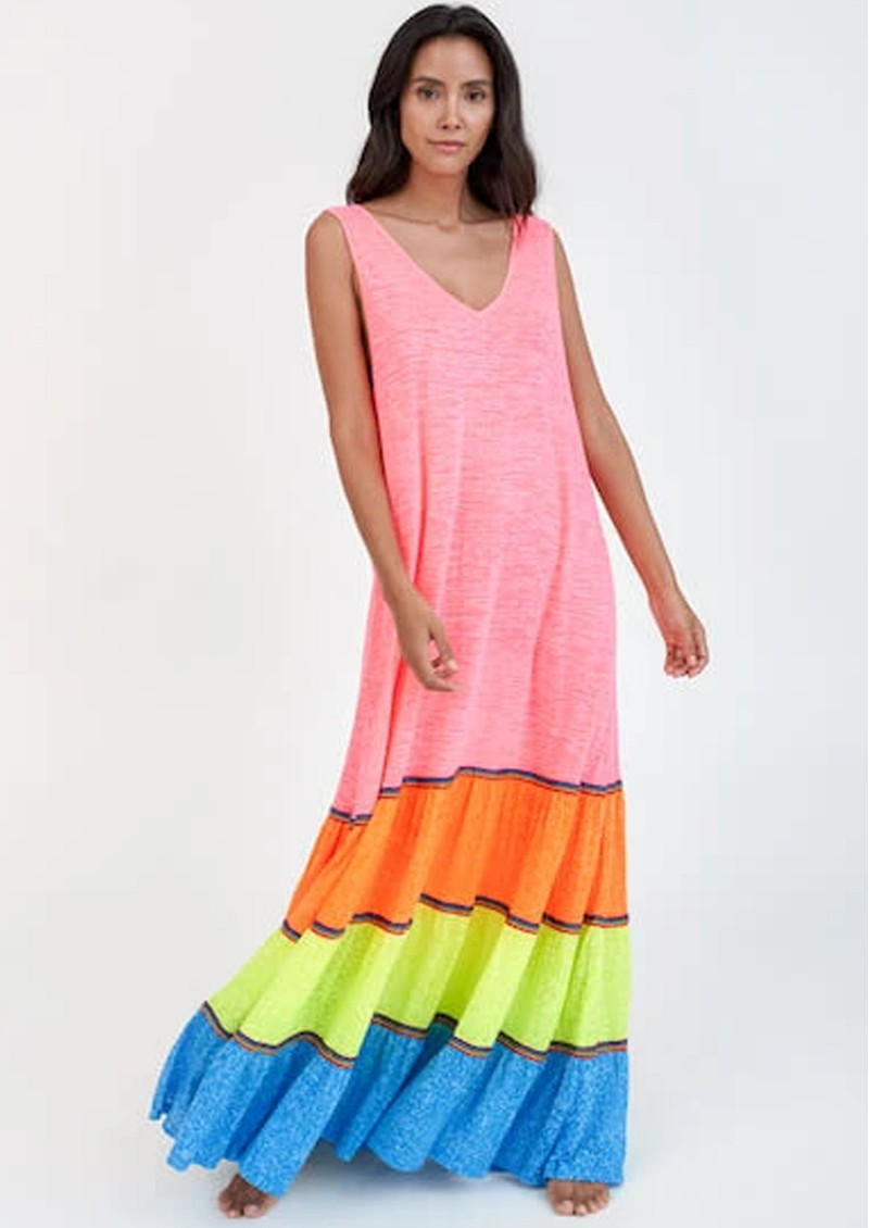 PITUSA Rainbow Tank Maxi Dress - Brights main image