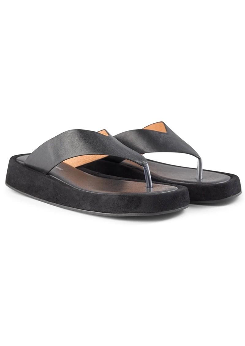 SHOE THE BEAR Astrid Leather Thong Sandal - Black main image