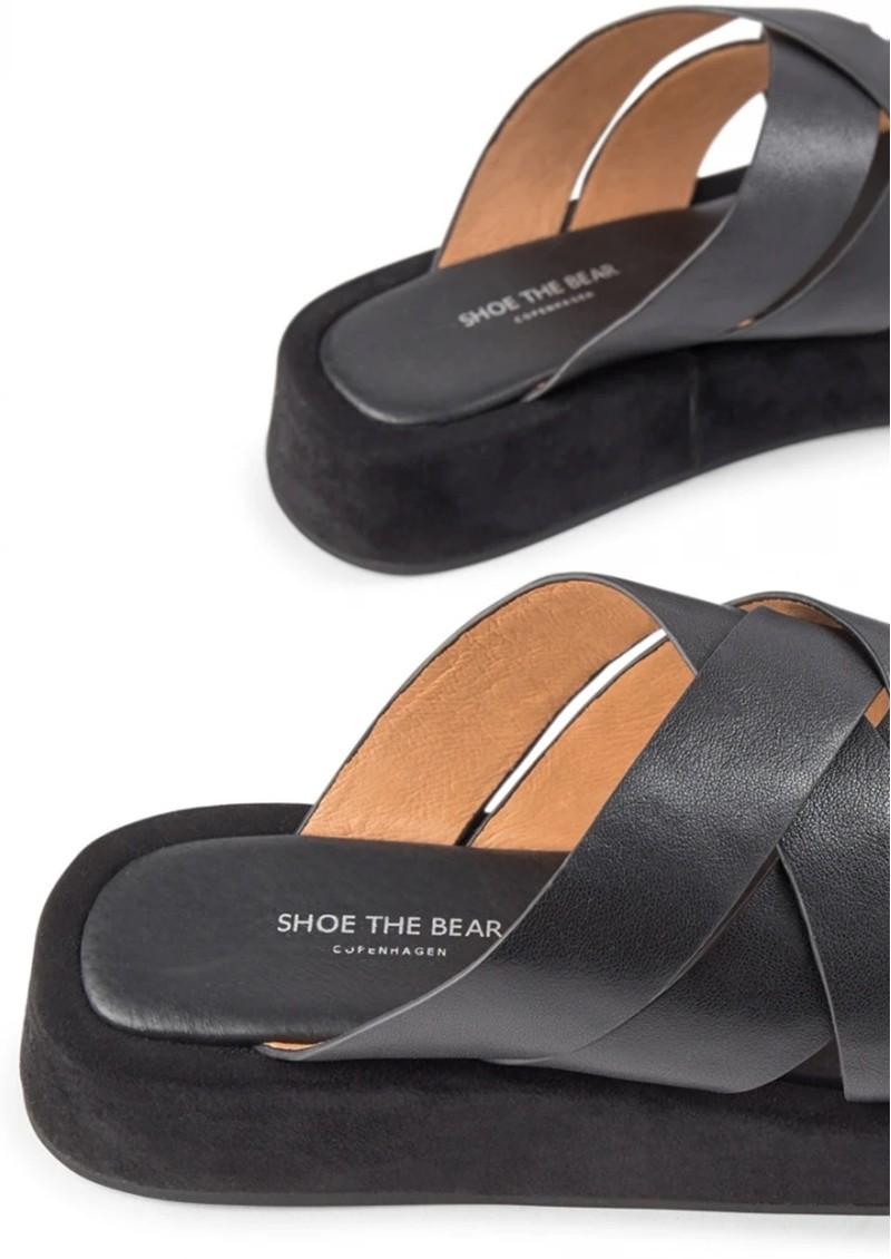 SHOE THE BEAR Astrid Leather Slip-in Mule - Black main image