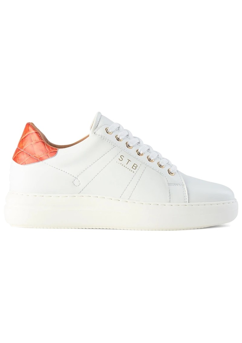 SHOE THE BEAR Vinca Leather Trainers - White & Red main image