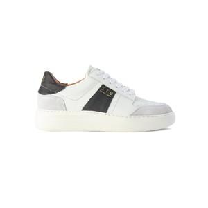 Vinca Leather Trainers - White & Black