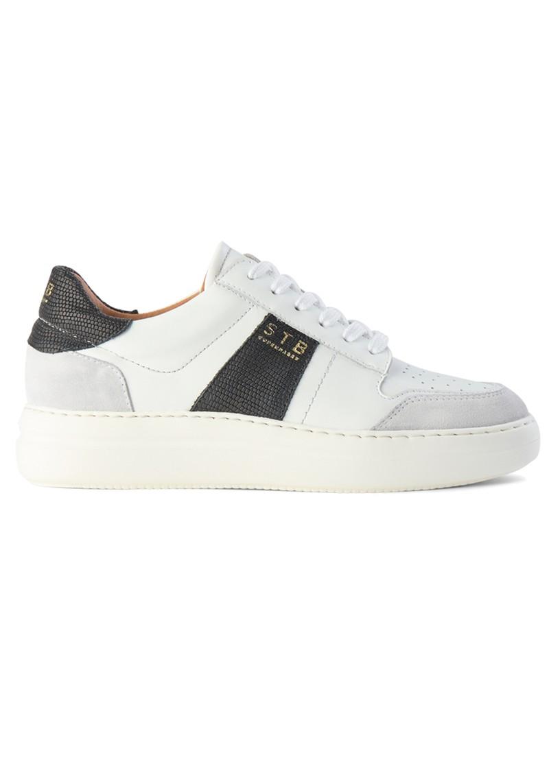 SHOE THE BEAR Vinca Leather Trainers - White & Black main image