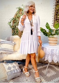 LINDSEY BROWN Provence Dress - White