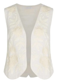 FABIENNE CHAPOT Zoe Embroidered Gilet - Cream