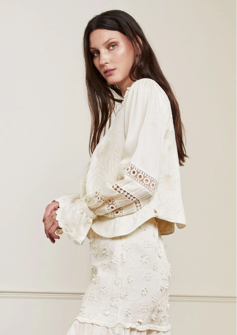 FABIENNE CHAPOT Zoe Embroidered Gilet - Cream main image
