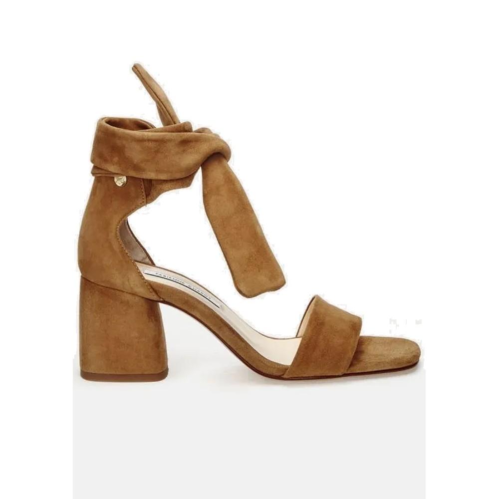 Selene Suede Sandals Camel