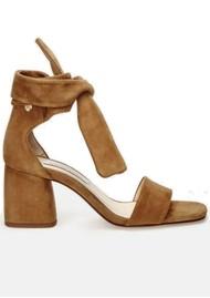 FABIENNE CHAPOT Selene Suede Sandals Camel