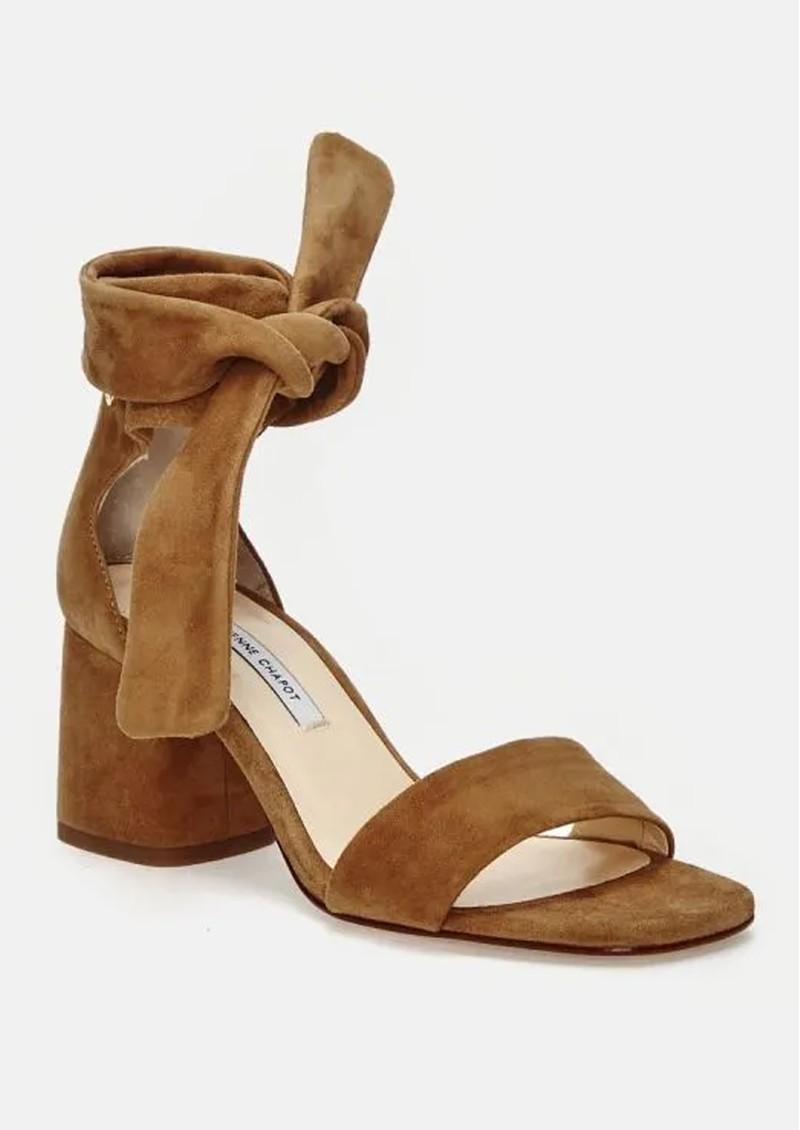 FABIENNE CHAPOT Selene Suede Sandals Camel main image