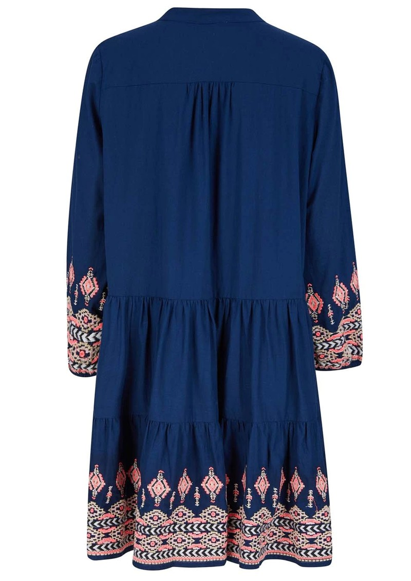 NOOKI Whitmore Cotton Dress - Navy main image