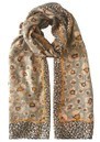 Poppymix Printed Scarf - Silver Gray additional image
