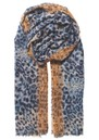 Lepa Como Cotton Mix Scarf - Blue additional image