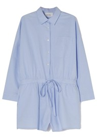 American Vintage Leslie Cotton Playsuit - Light Blue