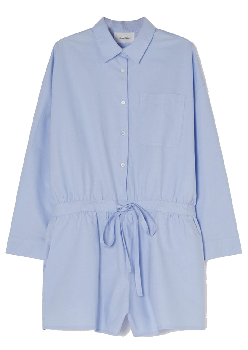 American Vintage Leslie Cotton Playsuit - Light Blue main image