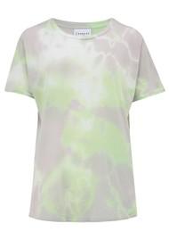 JUMPER 1234 Swirl Tie Dye T-Shirt - White, Green & Pansy