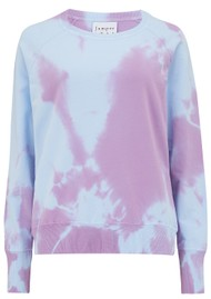 JUMPER 1234 Tie Dye Cotton Sweatshirt - Sky & Purple