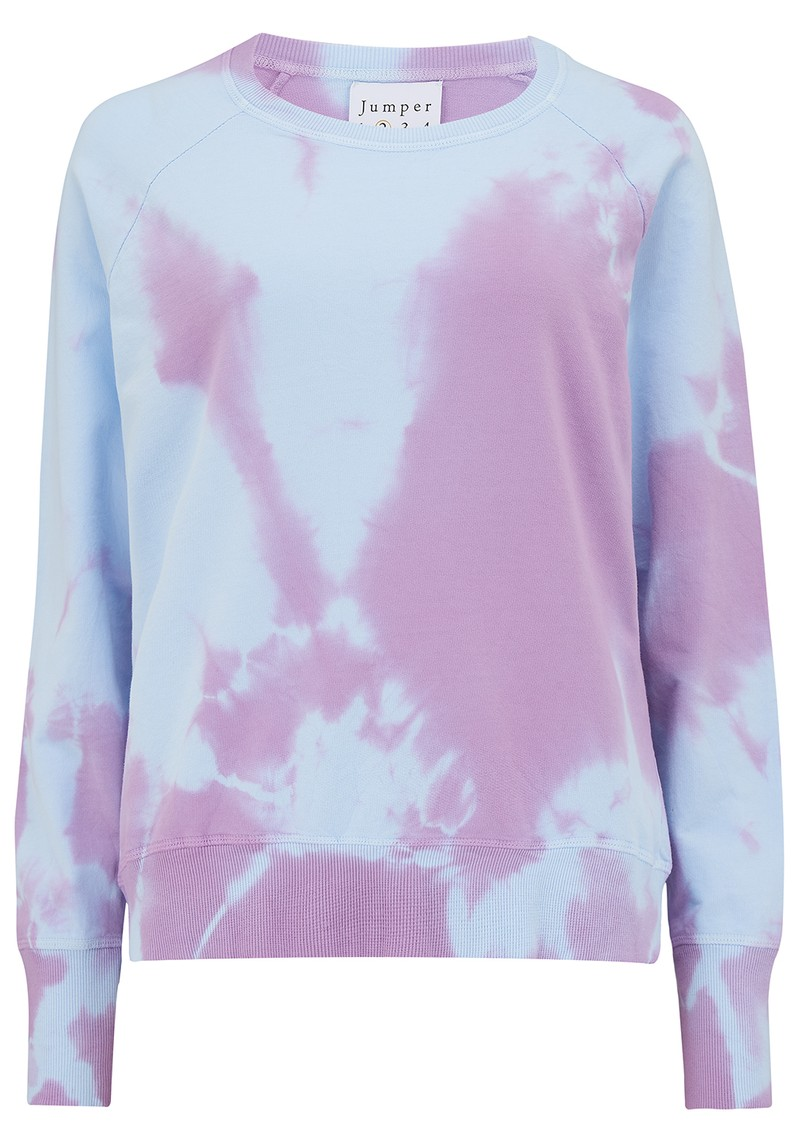 JUMPER 1234 Tie Dye Cotton Sweatshirt - Sky & Purple main image