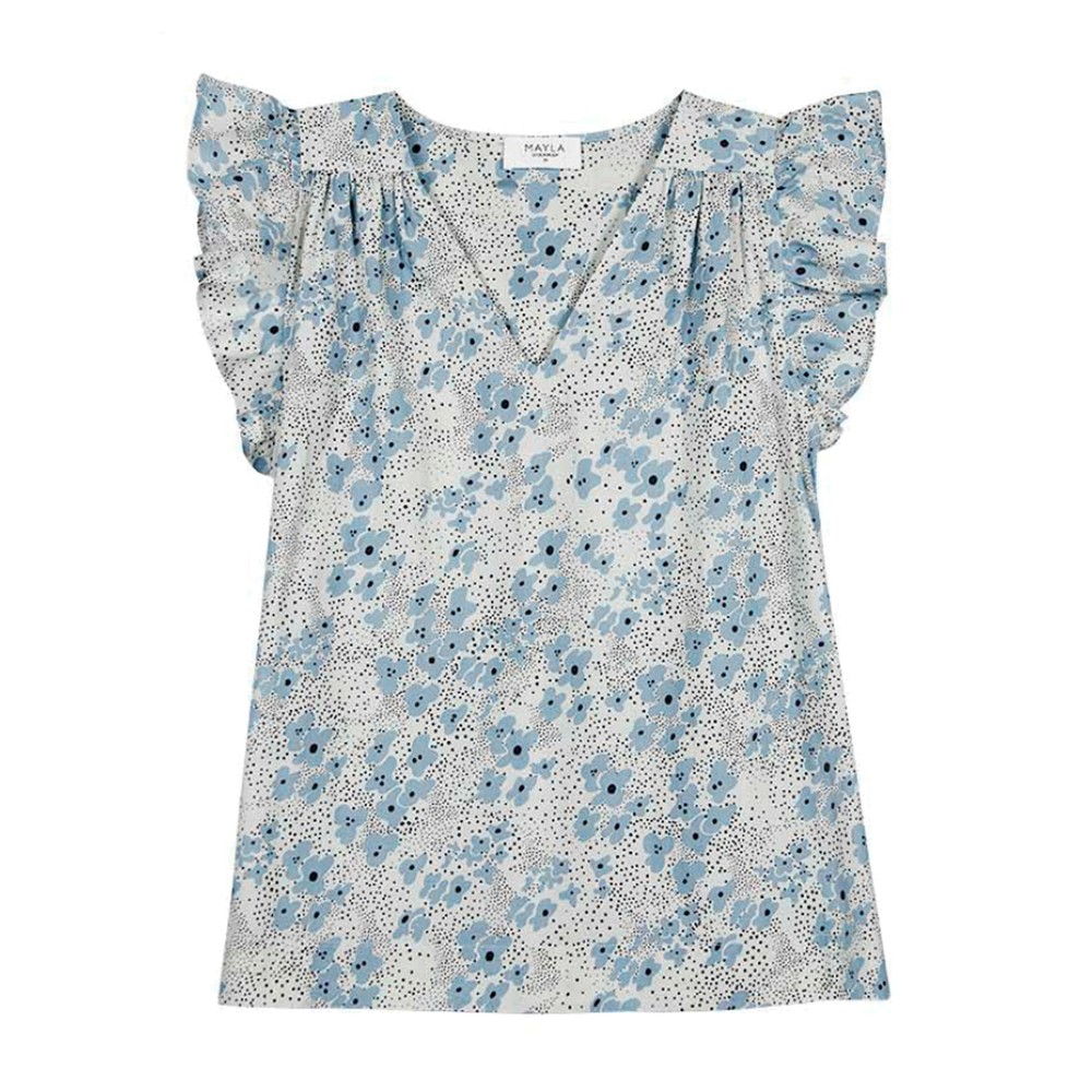 Veronica Organic Cotton Top - Ditsy