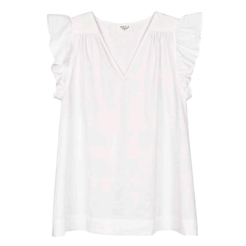 Veronica Organic Cotton Top - White