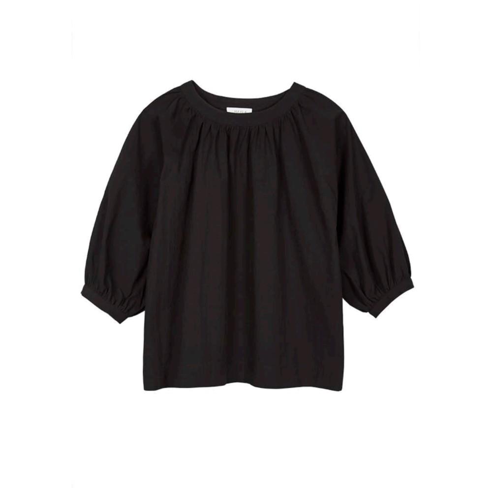 Maya Organic Cotton Top - Black