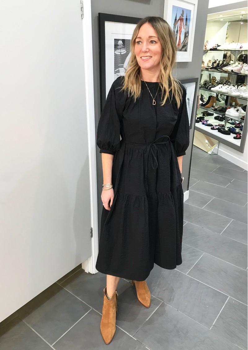 MAYLA Thea Organic Cotton Dress - Black main image