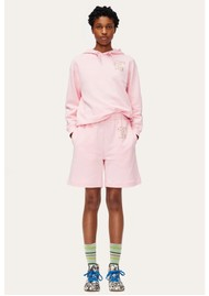 STINE GOYA Signe Organic Cotton Tracksuit Shorts - Pink