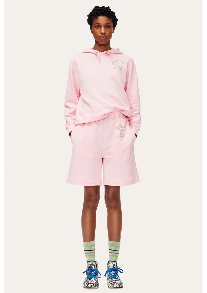 STINE GOYA Signe Organic Cotton Tracksuit Shorts - Pink main image