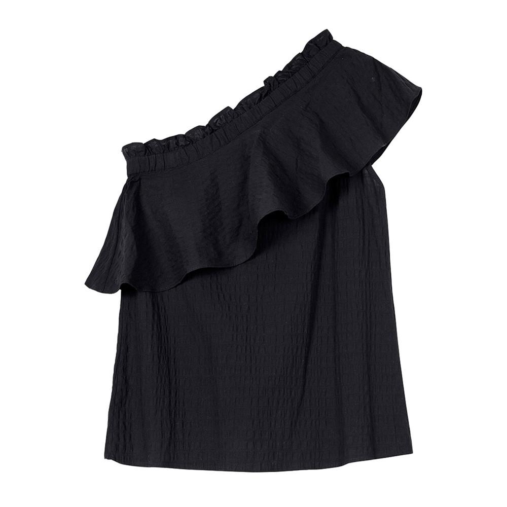 Billie Organic Cotton Top - Black
