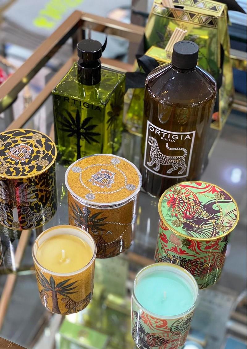 Ortigia Decorated Candle - Ambra Nera main image