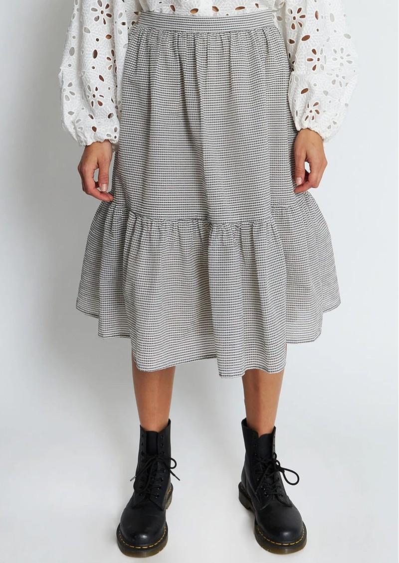STELLA NOVA Chloe Cotton Mix Skirt - Grey Check main image