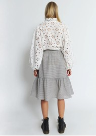 STELLA NOVA Chloe Cotton Mix Skirt - Grey Check