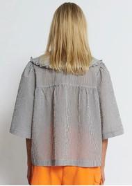 STELLA NOVA Safa Cotton Mix Blouse - Grey Check