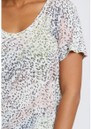 The Luna Scoop Neck Linen Tee - Rainbow Cheetah additional image