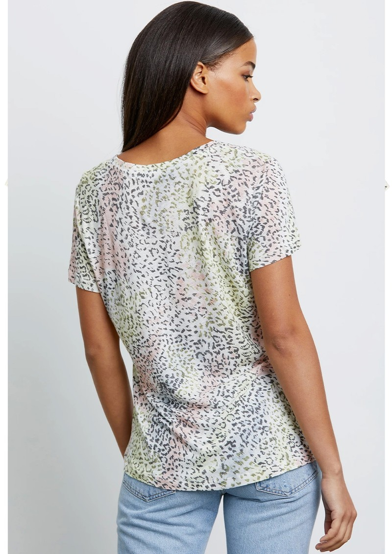 Rails The Luna Scoop Neck Linen Tee - Rainbow Cheetah main image
