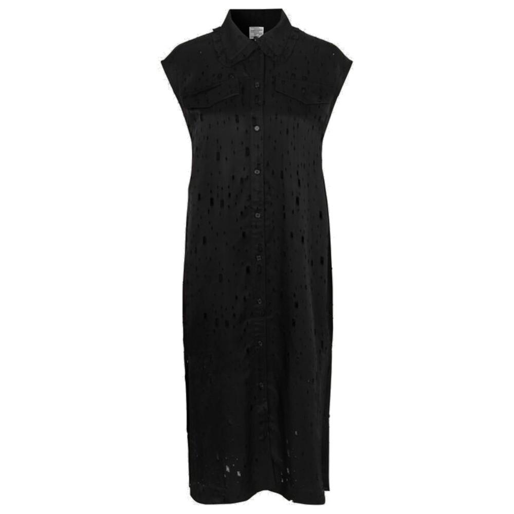 Abbiella Sleeveless Dress - Lacy Black