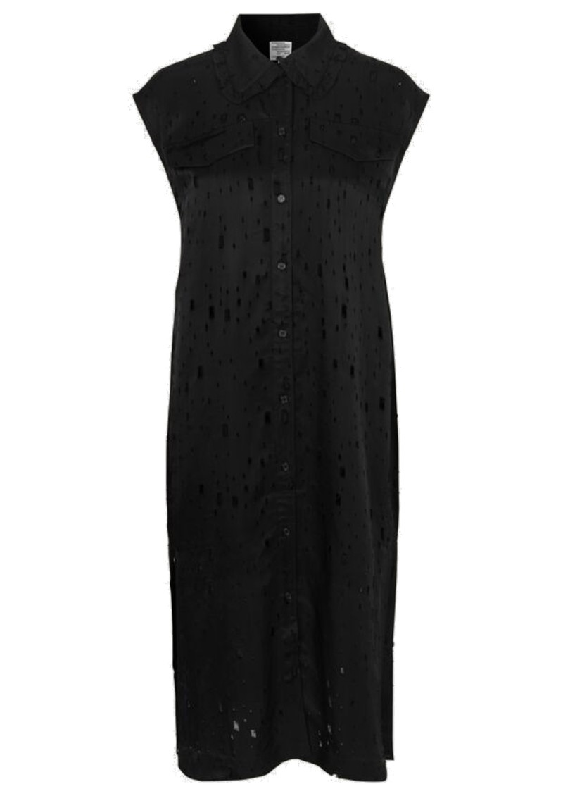 BAUM UND PFERDGARTEN Abbiella Sleeveless Dress - Lacy Black main image