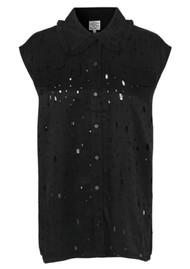 BAUM UND PFERDGARTEN Mukunda Sleeveless Shirt - Lacy Black