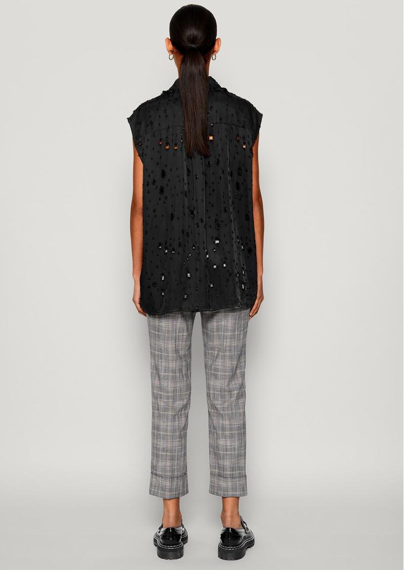 BAUM UND PFERDGARTEN Mukunda Sleeveless Shirt - Lacy Black main image