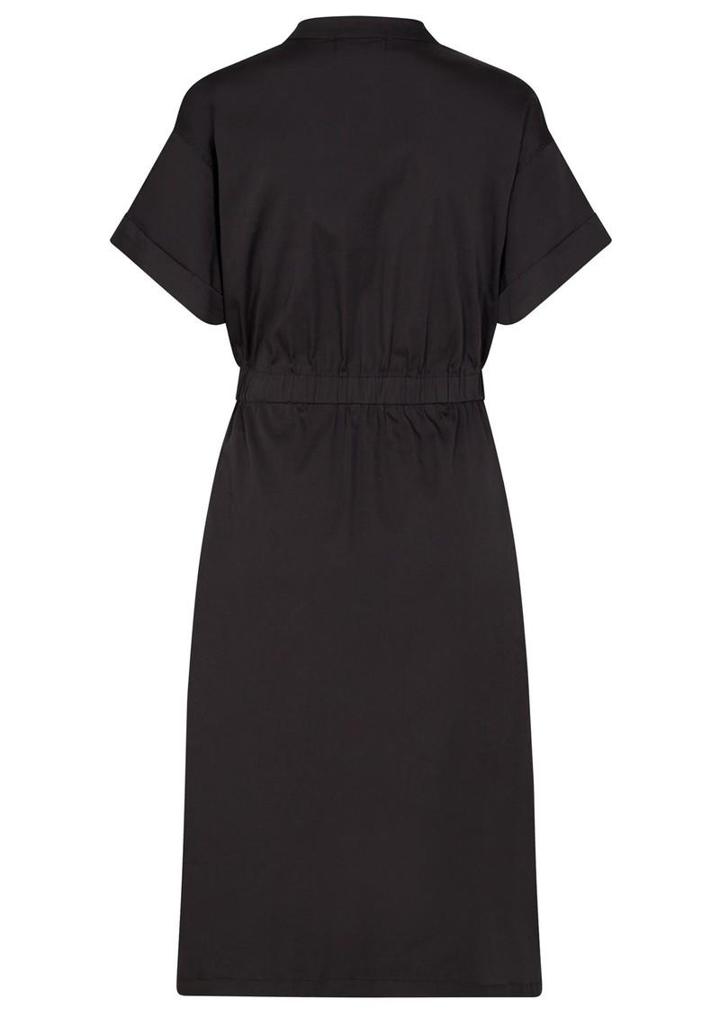 LEVETE ROOM Isla Solid 25 Cotton Mix Dress - Black main image