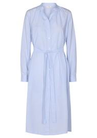LEVETE ROOM Nanna 3 Cotton Dress - Blue Stripe