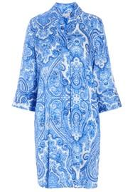 DEA KUDIBAL Kamille Silk Tunic Dress - Paisley Blue