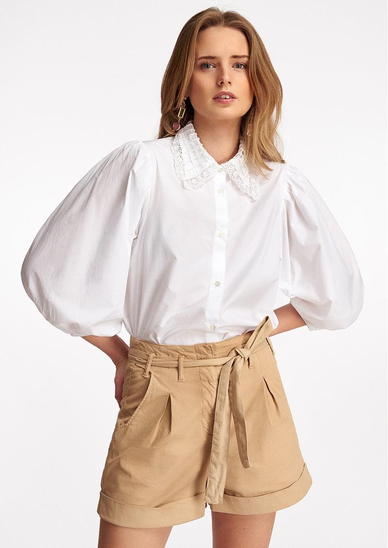 ESSENTIEL ANTWERP Zelder Cotton Poplin Shirt - White main image