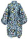 Zorn Leopard Print Shirt Dress - Sky Blue additional image